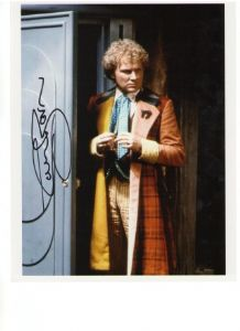 Colin Baker as the Doctor Signed 10 x 8 Photograph